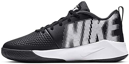 Nike Team Hustle Quick 2 (GS) Basketball Shoe, Black/White-Anthracite-Volt, 39 EU