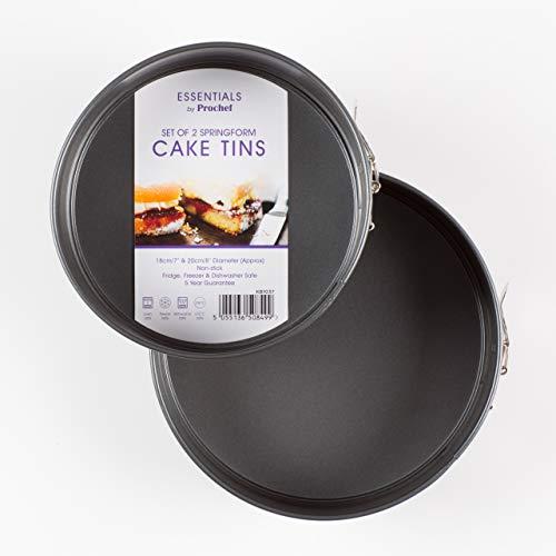 Everyday Baking, Juego de 2 Moldes Redondos con Base Extraíble para Horno, 18cm/7 y 20cm/8