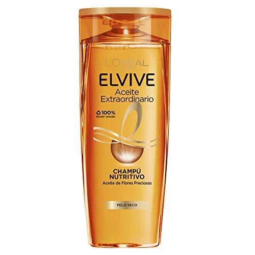 L Oréal Paris - Elvive Champú Nutritivo Aceite Extraordinario para Pelo Seco, 370 ml
