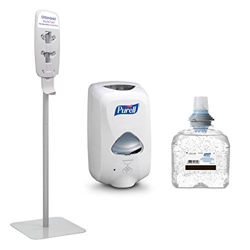 PURELL Kit Iniziale: Stazione Igienizzante PURELL TFX - PURELL Advanced Disinfezione Igienica delle Mani (Bianco)