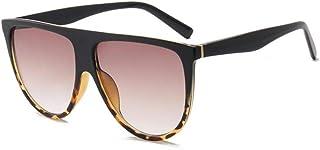 YZCX - Gafas de Sol Lady Retro Flat Top Gafas de Sol de Gran tamaño Square Pilot Large Black Shadow