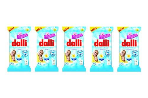 dalli® Trockner Tücher I für ca. 125 Trocknungsvorgänge   5 x 25 Tücher (125 Tücher) I macht die Wäsche flauschig weich und bügelleichter