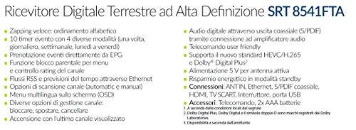 STRONG SRT 8541 DVB-T2 Receiver, freenet-TV Full HD (HDMI, LAN, SCART, Mediaplayer, USB, nur für DE geeignet) Schwarz