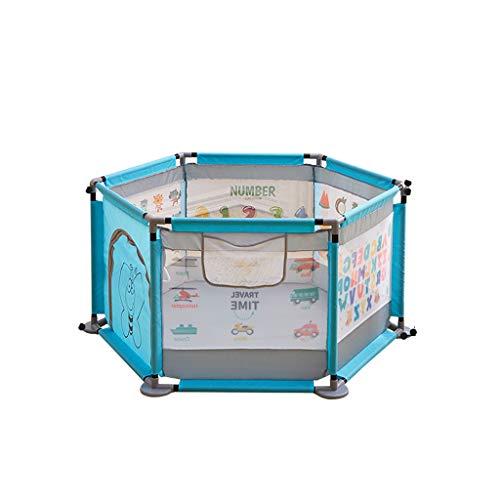 LIUFS-Clôture Clôture de jeu pour enfants Tapis d'intérieur rampant Clôture Accueil Parc d'attractions Safe Fence (Couleur : Blue+mat)