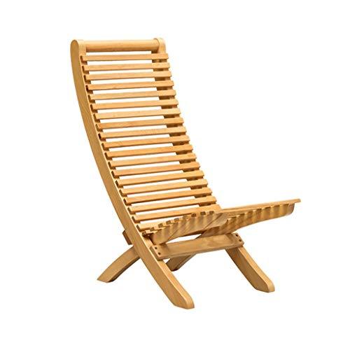 Chaise pliante en bois massif Chaise de salle à manger Restaurant Chaise de table à manger patio jardin balancelle chambre à coucher le salon Chaise sieste Café Tabouret de bar