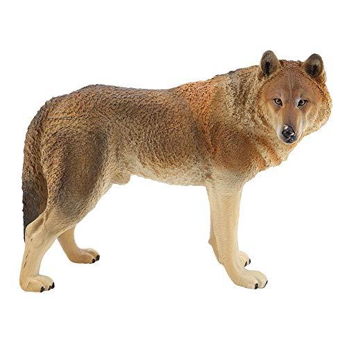 Atyhao Figuras de Juguetes de Lobo, simulación de Lobo, Modelo de Animal Salvaje, Juguetes para la Naturaleza, Ciencia, Aprendizaje, niños, Juguetes educativos de Lobo(2#)