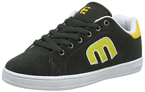 Etnies Boys Calli-Cut Skate Shoe, Green/White/Yellow, 3.5C Medium US Big Kid