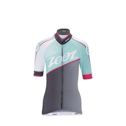 Zoot para Mujer Equipo de Ciclo Jersey, Mujer, Aquamarine/