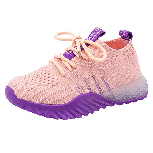 Cuteelf Kinder Jungen und Mädchen leichte atmungsaktive Casual Sportschuhe für Jungen und Mädchen Neue Frühjahr und Herbst Mesh Casual Socken Schuhe Sport Bequeme Mode Wilde Schuhe