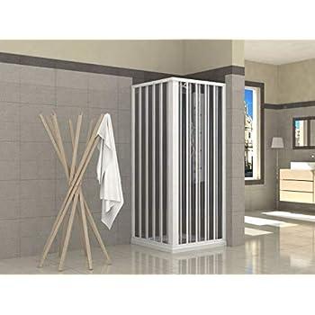 Mampara de Ducha Angular cabina de ducha mampara de ducha cuadrada Puerta Corredera Cristal 5 MM perfilería gris mate 70x70cm: Amazon.es: Bricolaje y herramientas