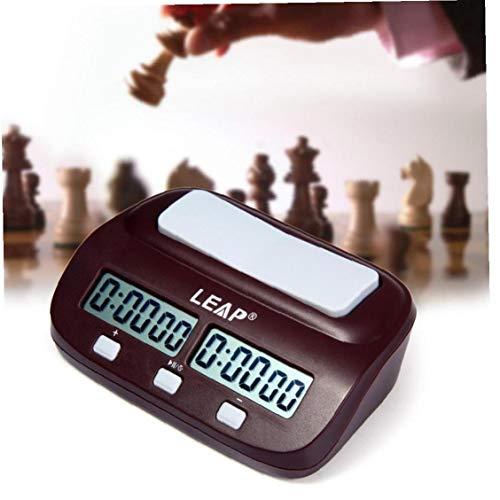 Byfri Reloj de ajedrez Digital hasta Abajo Electronic Game Timer ajedrez Jugador Profesional del Conjunto portátil de Mano Maestro