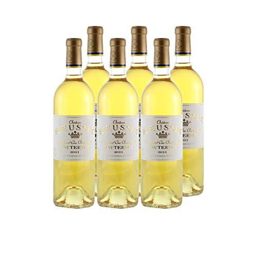 Château Rieussec Weißwein 2011 - g.U. Sauternes süßer - Bordeaux Frankreich - Rebsorte Sémillon, Sauvignon Blanc, Muscadelle - 6x75cl