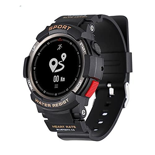 F6 Smart Watch Bluetooth Tasa del Corazón Monitoreo del Sueño Pedómetro Deportivo Pulsera Inteligente Impermeable para Android iOS,A