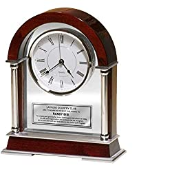 Personalized Retirement Clock Gift Engraved Desk Table Clock for Wedding Anniversary Employee Service Award Recognition Etched Retire Birthday Graduation