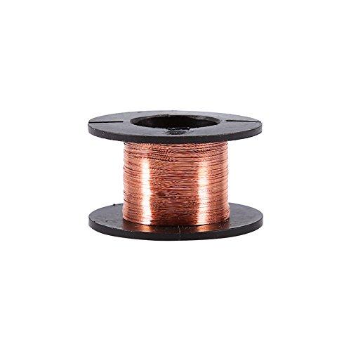 Kafuty AWG 0.1mm Magnet Wire - Filo di Rame smaltato - Filo di avvolgimento Magnete smaltato, Lunghezza Cavo 15m Cavo di Saldatura
