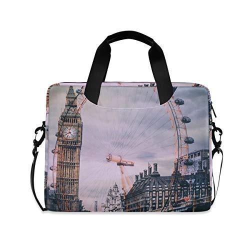 XIXIXIKO The London Eye Big Ben - Maletín extensible para portátil con correa desmontable para viajes de trabajo, negocios, iPad y MacBook