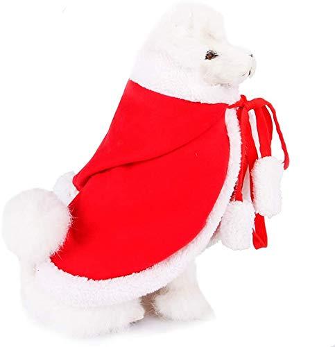 LLMZ Weihnachten Haustier Umhang Katzenkostüm Cape Verstellbar Weihnachtsumhang Haustierkostüm Katze Kostüm für Kleine Hunde und Katzen, Dekorieren Sie Ihr Geliebtes Haustier, M