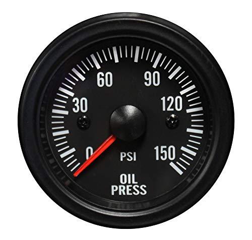 Oil Pressure Gauge- Waterproof Electrical White LED Performance Series 52mm (2 1/16)