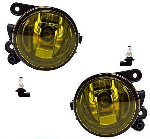 DM Autoteile Golf 5 V Nebelscheinwerfer SET Klarglas Gelb US GTI Look + Birnen + E-Zeichen