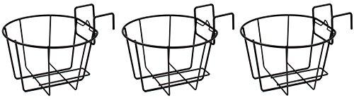Esylife - Fioriera in metallo da ringhiera, per appendere i vasi al balcone, set di 3fioriere