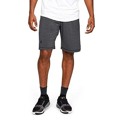 Under Armour Men's Raid 10-inch Workout Gym Shorts , Carbon Heather (090)/Black , Large