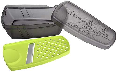 Fackelmann Ingwerwerkzeug mit Aufbewahrungsbox, 5 in 1 Küchenhelfer mit Reibe aus robustem Kunststoff & Hobel mit scharfer Klinge aus Edelstahl - spülmaschinengeeignet, Menge: 1 Stück