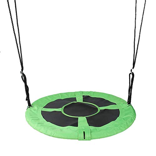 Hanging Swing Nest, Giant 40 Inch Flying Saucer Tree Swing for Indoor/Outdoor Use, 150kg Weight Capacity Adjustable Hanging Ropes, Ready to Hang and Enjoy as a Family