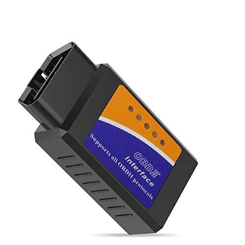 OBD-2 Fehlercode Diagnosegerät für Android, Bluetooth Verbindung zu Handy, Tablet oder Laptop, Auto OBD-II Diagnose-Tool, Fehler-Lesegerät für Kfz, OBD2 Scanner