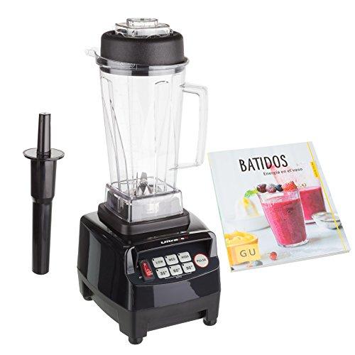 Ultratec SET20020000110 - Batidora de vaso profesional de 2 l (sin BFA, 1500 W, 22000 rpm), color negro