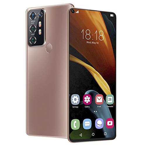 19: 9 6.72In HD Teléfonos con pantalla de ajuste completo, teléfonos inteligentes con reconocimiento facial desbloqueados, tarjetas duales GSM4, teléfonos inteligentes con doble modo de espera(Bronce)