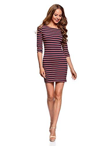 oodji Ultra Mujer Vestido de Punto Básico, Multicolor, ES 38 / S