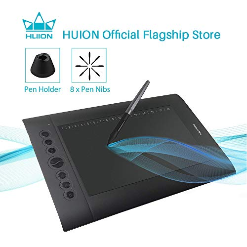 Huion H610 Pro V2 Graphics Drawing Pen Tablet 8192 Pressure Sensitivity with Battery-Free Stylus