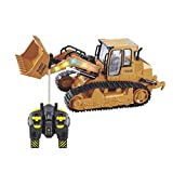 1:12 Full Functional Front Loader,RC Excavator Shovel Remote Control Construction Bulldozer Truck Toy with Lights