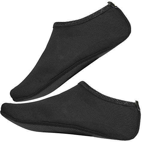 SunshineFace 1 par de mujeres hombres playa piel zapatos nadar deporte verano transpirable calcetines (negro L)