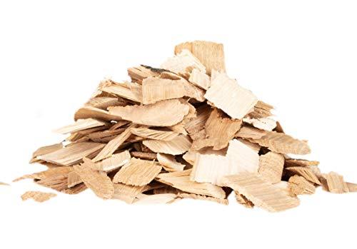 BABEQ Premium Räucherchips Hickory Natur-Holz für schnelles und intensives Raucharoma - geeignet für Smoker, Kohlegrill, Elektrogrill und Gasgrill - 500g Smoker-Holz in 3 verschiedenen Größen
