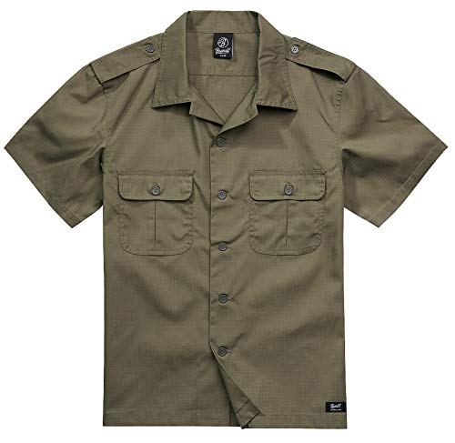 Brandit Camiseta de los EE. UU. Ripstop de manga corta, muchos colores, tallas de la S a la 5XL verde oliva XXXXXL