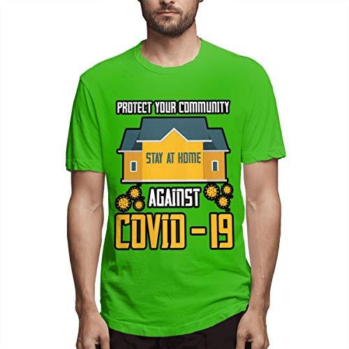 Stay at Home Stop Coronavirus Covid-19 - Camiseta de manga corta para hombre