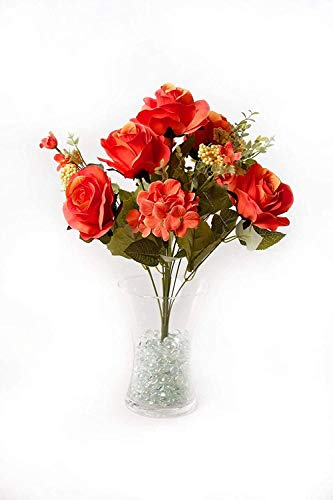 ZZYLHS Roses Artificial Flower 10 Stems Silk Roses 'Fresh Like 'Petal Feel' Bouquet of Flowers Floral Arrangements