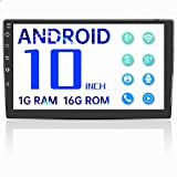 Double Din Android Bluetooth Car Stereo,10'' Voice Control Car Radio with GPS Touch Screen Player,Car Audio Radio Receiver,Support WiFi,USB,FM,Mirror Link,Video Output,Backup Camera (1G RAM 16G ROM)