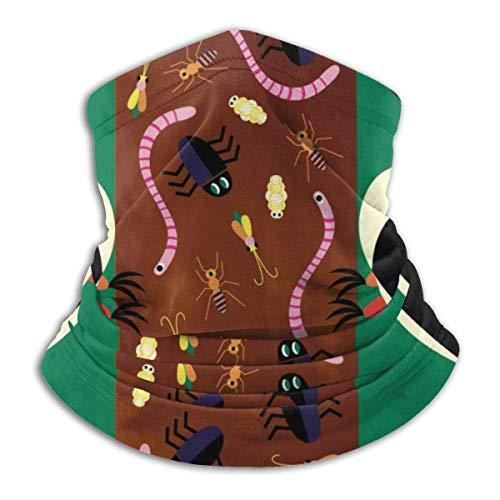 AEMAPE Wurm Specht Bandana für Rave Sonnenschutz Hals Gamasche Rohr Maske Kopfbedeckung Maske für Männer Frauen