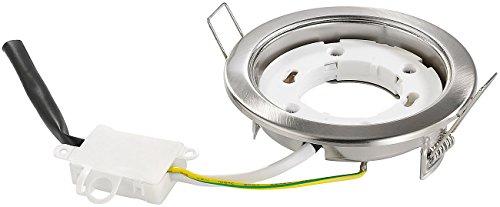 Preisvergleich Produktbild Luminea Funksockel: Einbaufassung GX53,  Nickel gebürstet,  ohne Leuchtmittel (Einbaurahmen)