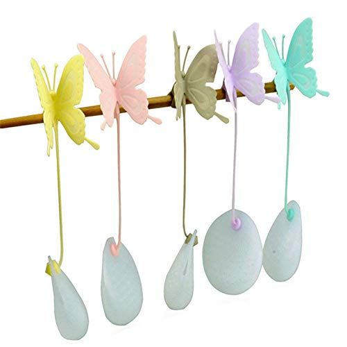 Sale!! Tvoip 5Pcs Butterfly Shape Tea Strainer Kitchen Supplies Non-toxic Resuable Silicone Tea Infu...