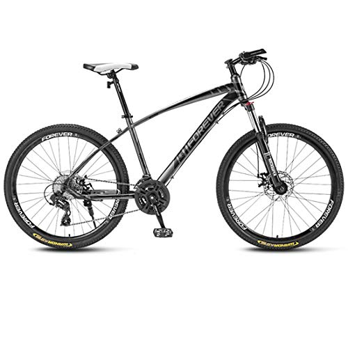 WYZQ Bicicletas De Montaña De 27.5 Pulgadas, Cuadro De Acero De Alto Carbono, Horquilla Delantera Amortiguadora, Freno De Doble Disco, Bicicletas De Carretera Todo Terreno,B,27 Speed