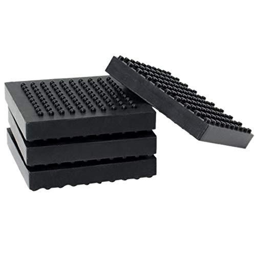 DIDILI 4Pcs Treadmill Mat High Density Rubber Exercise Equipment Mat Exercise Fitness Mat for Carpet Hardwood Floors