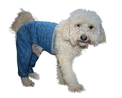 Mozzie Pants Walking Dog Pants, E-Collar Alternative, Dog Pajamas, X-Large Dog, Blue