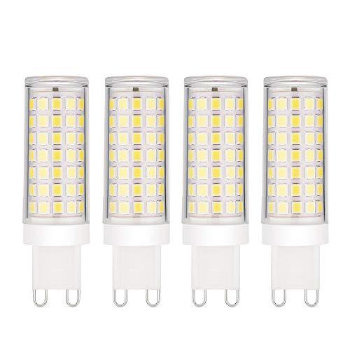 EKSAVE 4-Pack Dimmable Standard G9 Base risparmio energetico SES LED Lampadine - 8W / 600-700LM, 70W Lampadina a incandescenza equivalente, Angolo a fascio 360 °, Bianco freddo 6000K