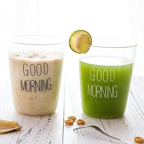 300ML Creative Glass Milk Breakfast Coffee Surprise price Transparent Cup H Genuine