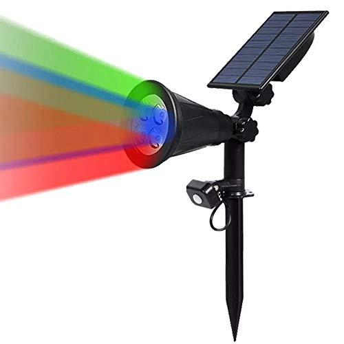 Decorativa Iluminación de paisaje RGB 4 LED Solar Powered sensor de movimiento PIR luz del césped Yard impermeable al aire libre lámpara de pared del paisaje, luces