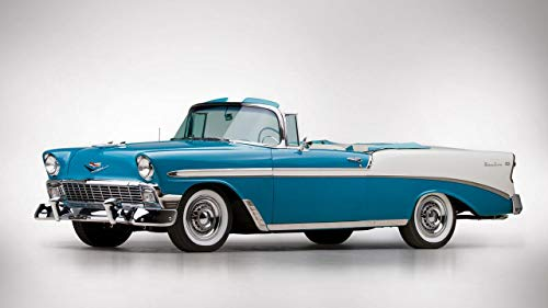 1956 Chevrolet Bel Air Convertible V1 - Canvas Art Print - Muurdecoratie - Canvas Wrap