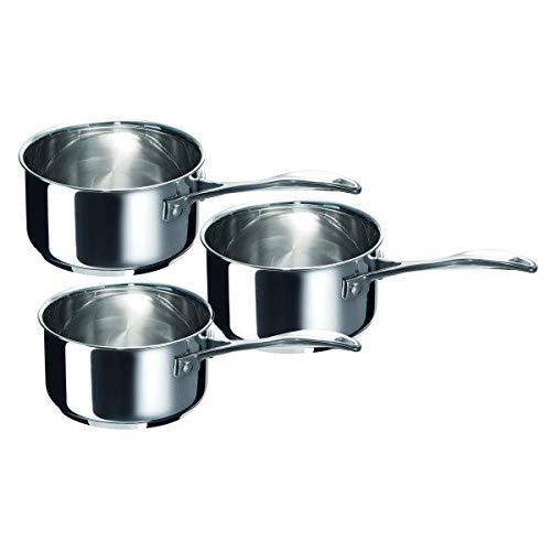 BEKA Série 3 casseroles 'chef' Inox